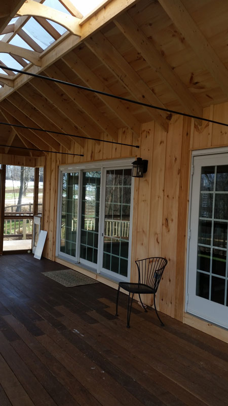 Cochranville screened in deck addition