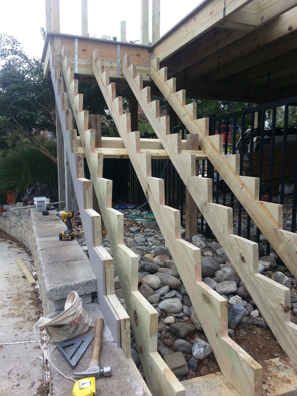 New Deck Stairs - Kennett Square