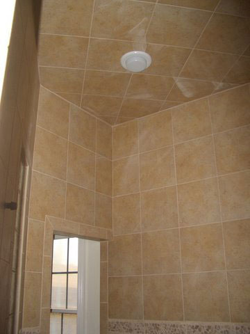 Custom tile walk-in shower