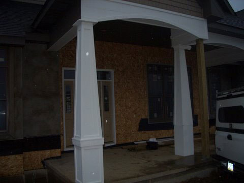 Huge porch posts